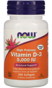 Витамин Д3 NOW Vitamin D3 5,000IU(125mcg)  (240 softgels)