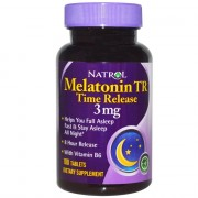 БАДы для сна и восстановления Natrol Melatonin Time Release 3 мг  (100 таб)