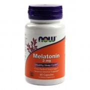 БАДы для сна и восстановления NOW Melatonin 3 мг  (60 капс)