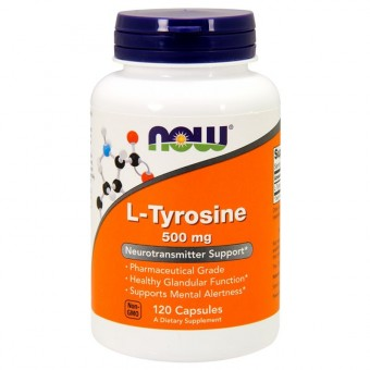 Тирозин NOW L-Tyrosine 500 мг  (120 капс)